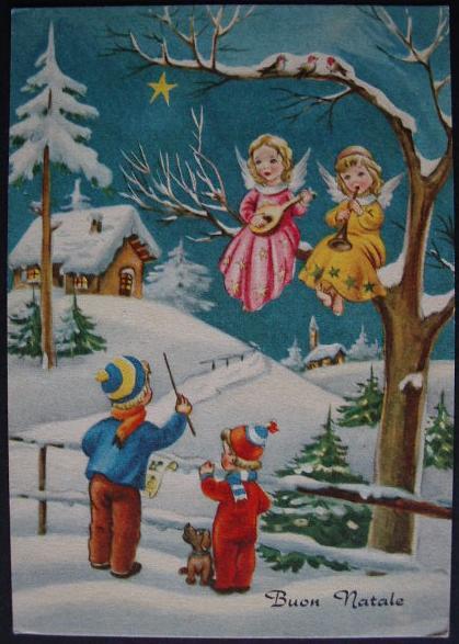 Buon Natale Anni 50.Buon Natale Cartolina Auguri Anni Cinquanta Bn022
