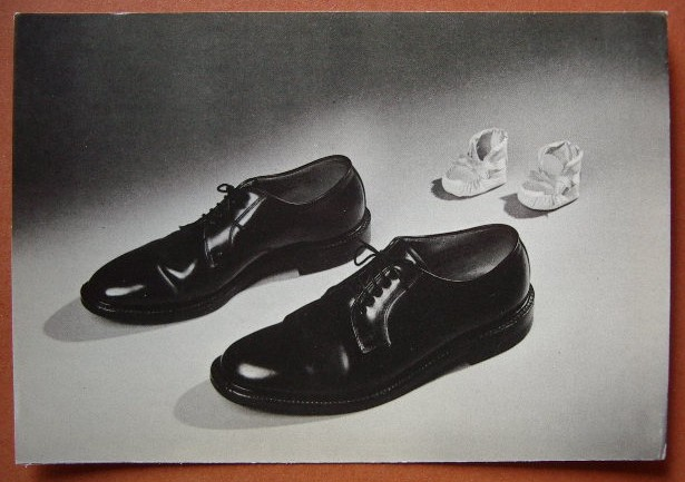 2d7cea365e771 Scarpe da uomo e neonato pubblicità anni 50 pubb01 - Collezione OnLine